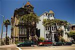 Facade of Victorian houses, San Francisco, California, USA