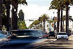 Circulation sur une rue dans une ville, San Francisco, Californie, USA