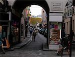 Group of people walking on the street, Paris, France