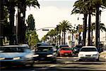 Traffic on a street in a city, San Francisco, California, USA