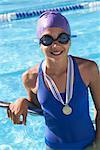 Portrait of Girl on Pool Side