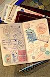 Reisepass und Brieftasche