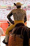 Stierkämpfer Eingabe Ring, Pamplona, Spanien