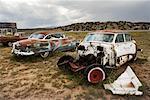 Voitures abandonnées, Bluewater, Nouveau-Mexique, États-Unis