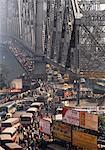 Rush Hour Over Howrah Bridge, Calcutta, India