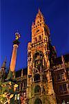 Hôtel de ville, Munich, Bavière, Allemagne