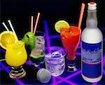 Gros plan des cocktails sur une table