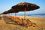 Palapas and Chairs on Beach, Hoi An, Vietnam