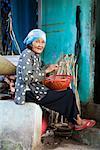 Woman Working on Step, Phuong Nam Village, Vietnam