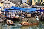 Fishing Boats at Market, De Vong River, Hoi An, Vietnam