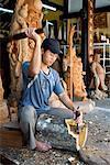 Woodcarver Working, Hoi An, Vietnam