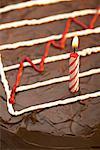 Graphique sur le gâteau d'anniversaire