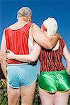 Senior couple wearing shorts