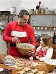 Père et fille, biscuits