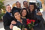 Portrait of Graduates with Families