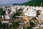 High angle view of a city, Central Tokushima, Shikoku, Japan