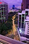 City Artery at Dusk, Rajah Expressway and Cantonment Road, Singapore