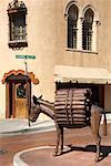 Wooden Donkey Statue, Santa Fe, New Mexico, USA