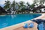 Sandals and Sarong at Pool Side, Zanzibar, Tanzania