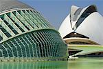 l'Hemisferic und Palau de Les Arts, Stadt der Künste und Wissenschaften, Valencia, Spanien