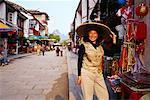 Portrait of Tourist, Yangshou, China