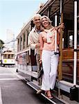 Couple on Trolley, San Francisco, California, USA