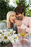 Couple Eating Strawberry