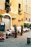 Sidewalk Cafe, Rome, Italy