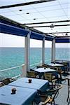 Restaurant Overlooking the Sea, Cala Ratjada, Capdepera, Majorca, Spain