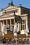 Cafe in Gendarmenmarkt, Schinkel's Playhouse In Background, Berling, Germany