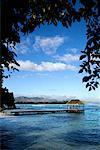 Station d'accueil sur la plage, l'île Maurice