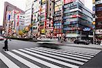 Crosswalk in Shinjuku, Tokyo, Japan
