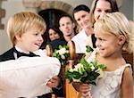 Ringbearer et Claude au mariage