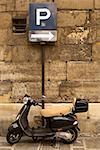 Moped on a paris street
