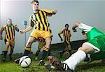 Fußball-Spieler Schießen