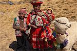 Portrait Women and Children, Peru