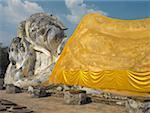 Reclining Buddha Statue at Ayutthaya, Thailand