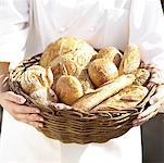 Basket of Fresh Artisanal Bread