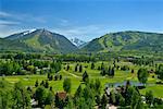 Parcours de golf à Aspen, Colorado, USA