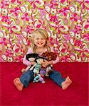Portrait de jeune fille à la poupée