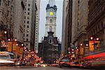 South Broad Street at Night, Philadelphia, Pennsylvania, USA