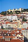 Castelo de Sao Jorge and Skyline, Lisbon, Portugal
