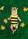 Portrait of Baby in Bee Costume