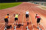 Men Starting Race