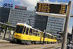 Streetcar in Alexanderplatz, Berlin, Germany