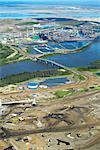 Suncor Oil Sands, Syncrude Canada Ltd in Background, Alberta, Canada