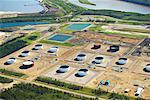 Storage Tanks at Suncor Oil Sands Plant, Alberta, Canada