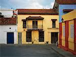 Facade of a house, Cartagena, Colombia