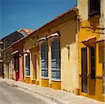 Buildings along a road, Cartagena Colombia