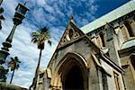 Vue latérale de l'église anglicane, Hamilton, Bermudes